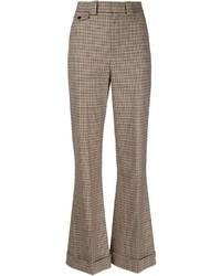 Pantaloni larghi marroni