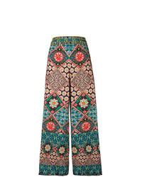 Pantaloni larghi multicolori di Alice + Olivia