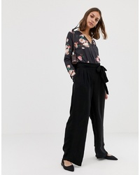 Pantaloni larghi neri di Pieces