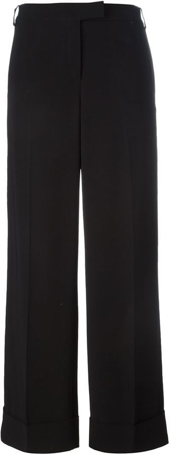 Pantaloni larghi neri di Salvatore Ferragamo