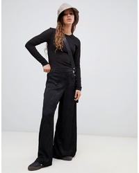 Pantaloni larghi neri di Weekday