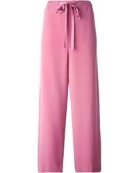 Pantaloni larghi rosa di Marc Jacobs