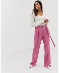 Pantaloni larghi rosa di Vila
