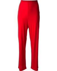 Pantaloni larghi rossi
