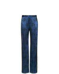Pantaloni larghi stampati blu scuro di Lanvin
