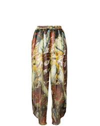 Pantaloni larghi stampati multicolori di Jean Paul Gaultier Vintage