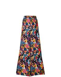 Pantaloni larghi stampati multicolori di La Doublej