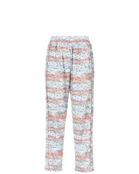 Pantaloni larghi stampati multicolori di Olympiah