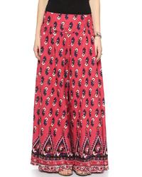 Pantaloni larghi stampati rossi