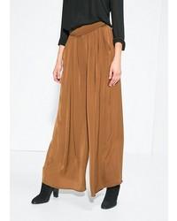 Pantaloni larghi terracotta