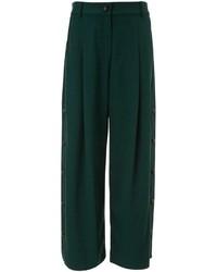 Pantaloni larghi verde scuro