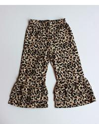 Pantaloni leopardati marroni