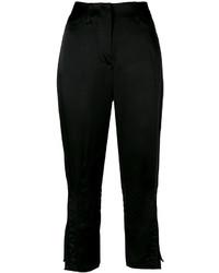 Pantaloni ricamati neri di Fendi