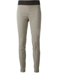 Pantaloni skinny a quadretti neri e bianchi