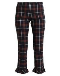 Pantaloni skinny a quadri blu scuro di Vila