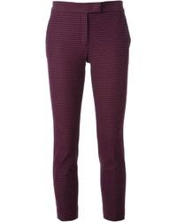 Pantaloni skinny a quadri viola melanzana di Joseph