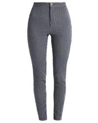 Pantaloni skinny a righe verticali blu di LOST INK