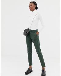 Pantaloni skinny a righe verticali verde scuro di Jdy