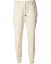 Pantaloni skinny beige