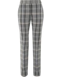 Pantaloni skinny di lana a quadri grigi