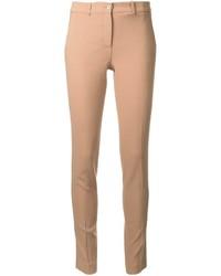 Pantaloni skinny di lana marrone chiaro di Michael Kors