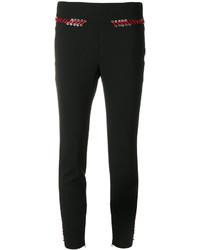 Pantaloni skinny di pizzo neri di Alexander McQueen