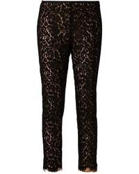 Pantaloni skinny di pizzo neri di Michael Kors