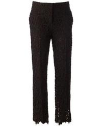 Pantaloni skinny di pizzo neri di Valentino