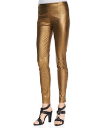 Pantaloni skinny dorati
