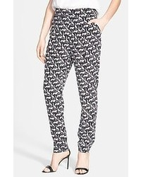 Pantaloni skinny geometrici grigi