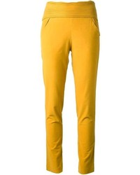 Pantaloni skinny gialli