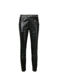 Pantaloni skinny in pelle con borchie neri di RED Valentino