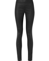 Pantaloni skinny in pelle neri di Akris
