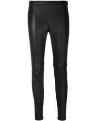 Pantaloni skinny in pelle neri di Alexander McQueen