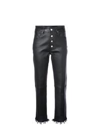 Pantaloni skinny in pelle neri di Amiri