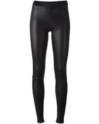Pantaloni skinny in pelle neri di Drome