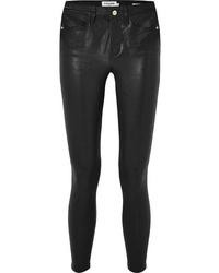 Pantaloni skinny in pelle neri di Frame