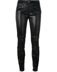 Pantaloni skinny in pelle neri di Giamba