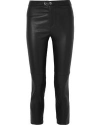 Pantaloni skinny in pelle neri di Isabel Marant