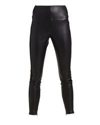 Pantaloni skinny in pelle neri di LOST INK