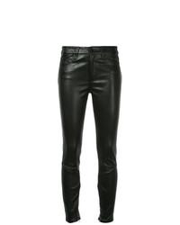 Pantaloni skinny in pelle neri di Nobody Denim