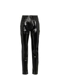 Pantaloni skinny in pelle neri di Saint Laurent