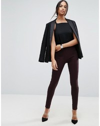 Pantaloni skinny marrone scuro di Asos
