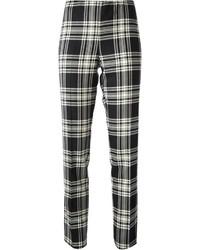 2206292bac91 Pantaloni scozzesi bianchi e neri da donna | Moda donna | Lookastic