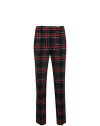 Pantaloni skinny scozzesi neri