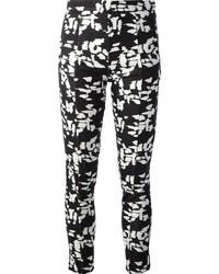 Pantaloni skinny stampati bianchi e neri
