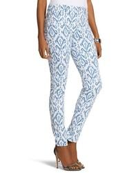Pantaloni skinny stampati blu