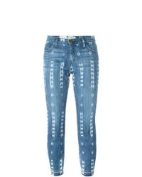 Pantaloni skinny stampati blu di Current/Elliott