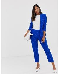Pantaloni skinny stampati blu di Vila