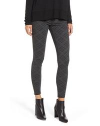 Pantaloni skinny stampati grigio scuro